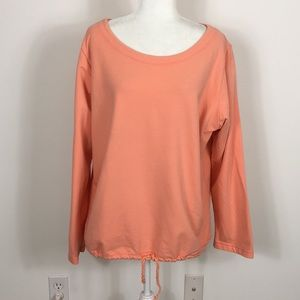 Fresh Produce Coral Orange Long Sleeve Sweatshirt